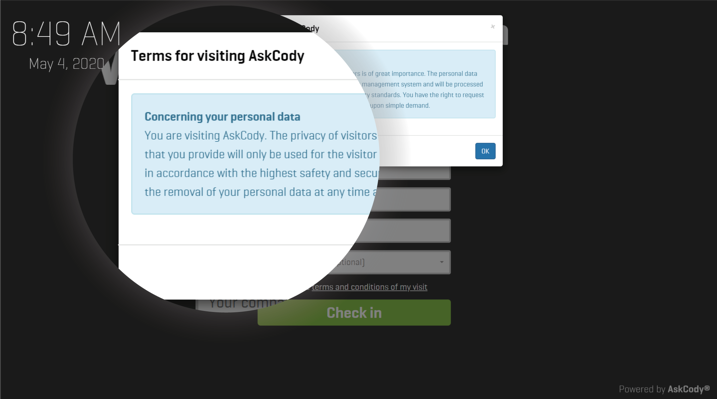 AskCody-Visitor-Management-Check-in-screen-Terms-&-Conditions-2