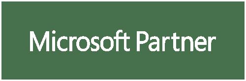 Microsoft Partner - white - framed
