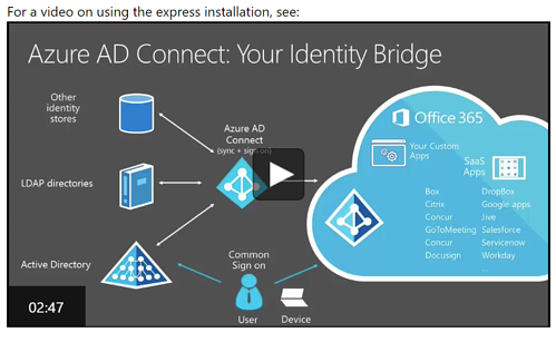 azure ad conect help video from microsoft