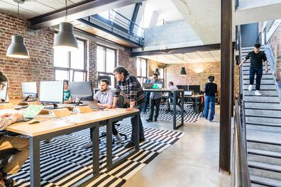 In-office-startup-tech-company-hybrid-work